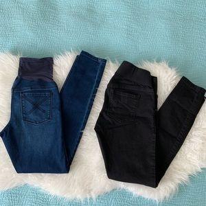 Old Navy Maternity Rockstar skinny jeans bundle